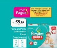 Oferta de Pampers Pants Ajuste Total Mega  por R$55,99