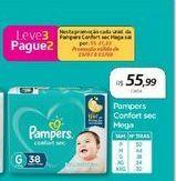 Oferta de Pampers Confort Sec Mega por R$55,99