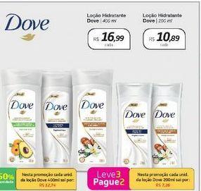 Oferta de Loção Hidratante Dove 200 ml  por R$10,89