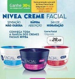 Oferta de Nivea Creme Facial  por R$28,49