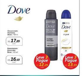Oferta de Desodorante Masculino Dove 150ml por R$16,49