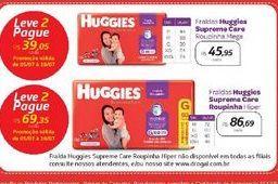 Oferta de Fraldas Huggies Supreme Care  por R$45,95