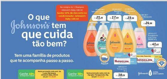 Oferta de Shampoo Johnson's 400 ml por R$17,59