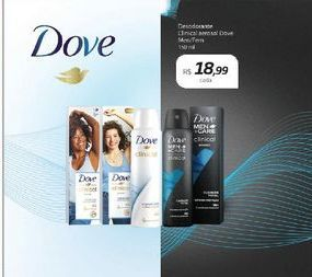 Oferta de Desodorante Clinical Aerosol Dove por R$18,99