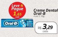 Oferta de Creme Dental Oral-B 4 em 1 70g por R$3,29