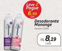 Oferta de Desodorante Monange Aerosol 150ml por R$8,19