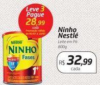Oferta de Ninho Nestlé Leite em Pó 800g por R$32,99