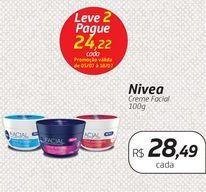 Oferta de Nivea Creme Facial 100g por R$28,49