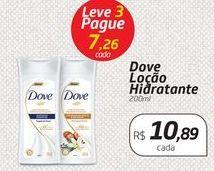 Oferta de Dove Loção Hidratante 200ml por R$10,89