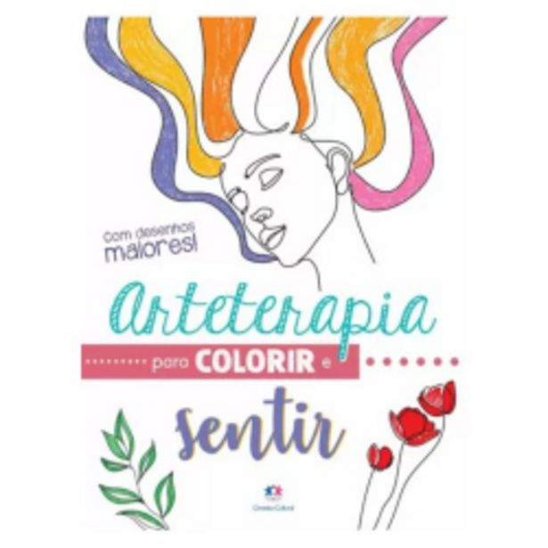 Oferta de Livro Ciranda Cultural Grampeado 48p Arte Terapia Para Colorir por R$9,99