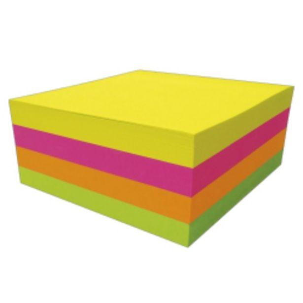 Oferta de Bloco De Anotacoes Adesivo Fluorecente Com 4 38x50 por R$12,98