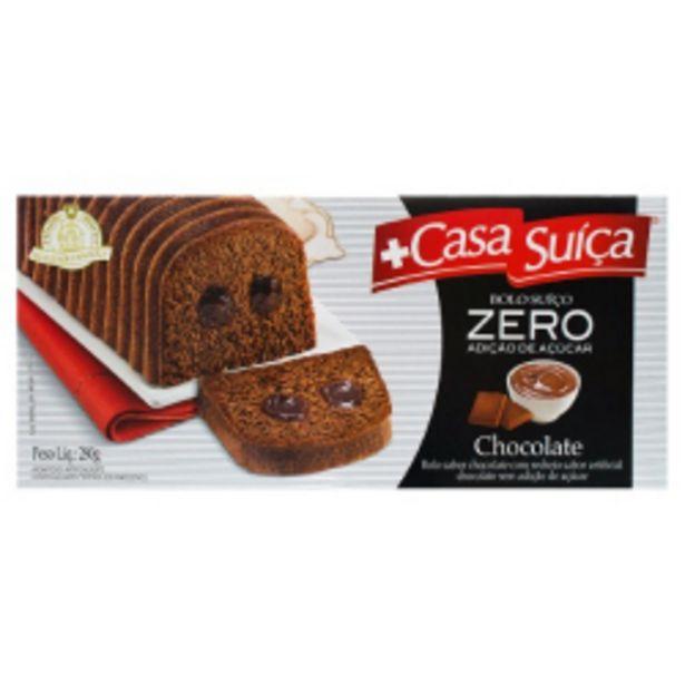 Oferta de Bolo Casa Suíça Chocolate Recheado Chocolate Zero Adição De Açúcar 280g por R$16,98