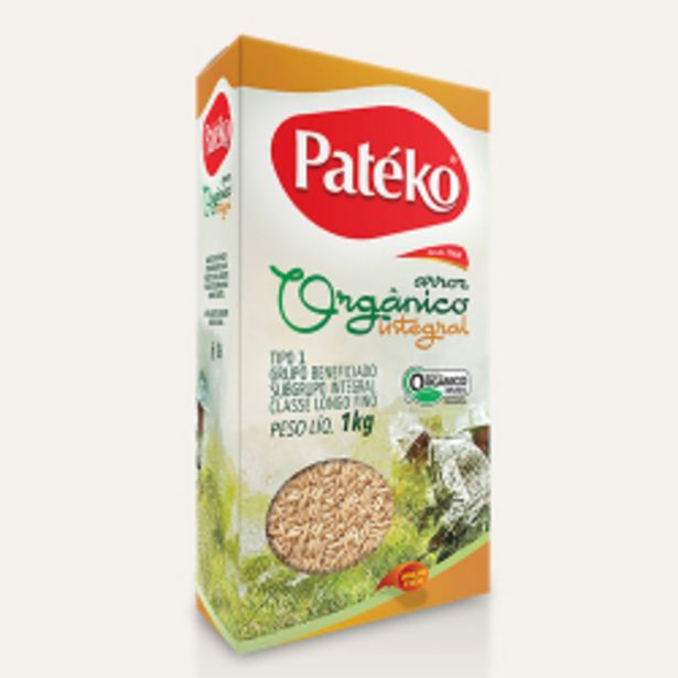 Oferta de Arroz Integral Pateko Organico À Vacuo 1kg por R$12,39