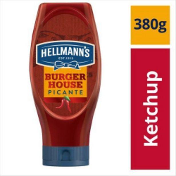 Oferta de Catchup Hellmanns Burger House Picante Bi 380g por R$11,59