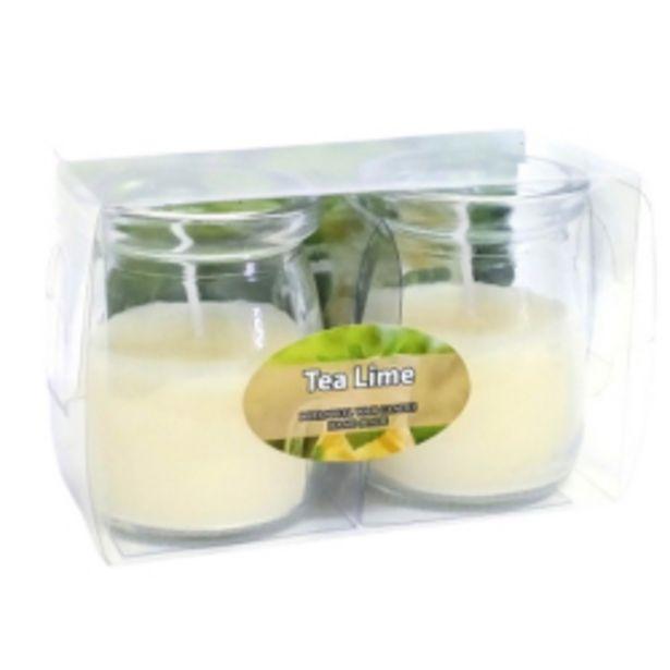 Oferta de Kit Com 2 Velas Mini Tea Lime Jarro por R$28,9