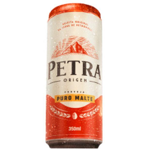Oferta de Cerveja American Lager Puro Malte Petra Origem Lata Unidade 350ml por R$2,99