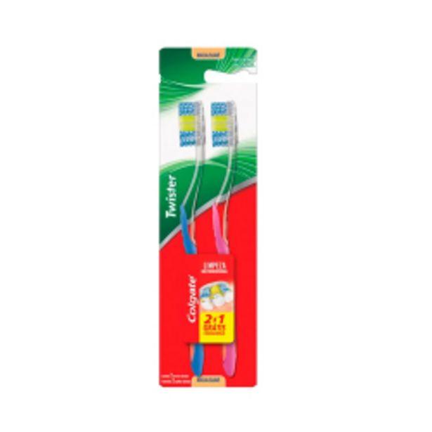 Oferta de Escova Dental Colgate Twister Leve 2 Pague 1 por R$16,98