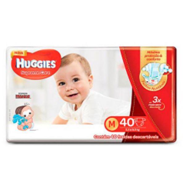 Oferta de Fralda Huggies T.monica Supreme Meg Med.com 40un por R$49,9