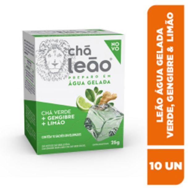 Oferta de Cha Leao Agua Gelada Fuze Cha Verde Gengibre E Limao 25gr por R$10,98