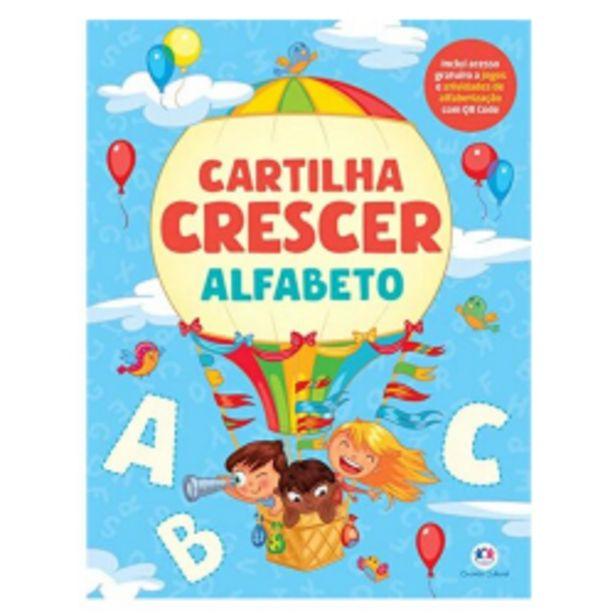 Oferta de Livro Ciranda Cultural Cartilha Crescer Alfabeto por R$14,99