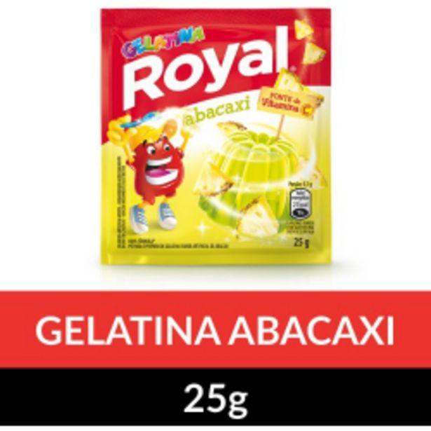 Oferta de Gelatina Em Pó Royal Abacaxi 25g por R$1,59