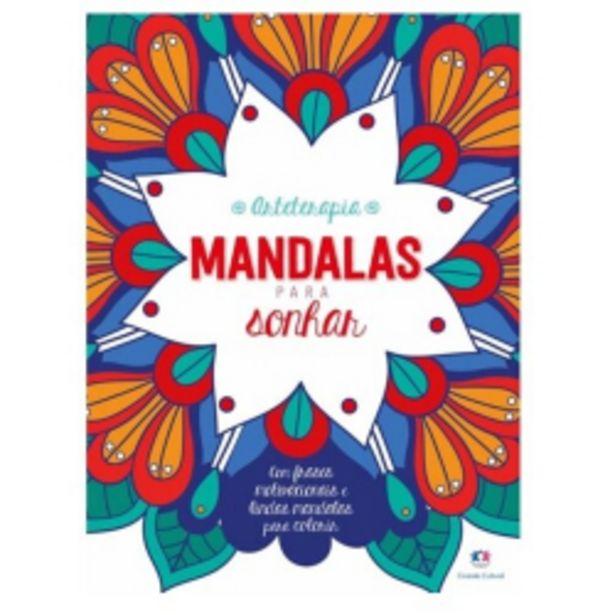Oferta de Livro Ciranda Cultural Grampeado 48p Mandalas Para Sonhar por R$9,99
