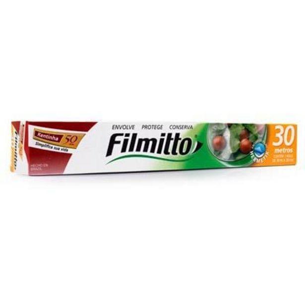 Oferta de Filme De Pvc Transparente Filmitto 28Cm X 30 M por R$9,99