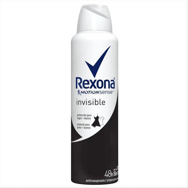 Oferta de Desodorante Antitranspirante Aerosol Feminino Rexona Invisible 72 horas 150ml por R$15,49