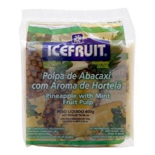Oferta de Polpa Congelada Icefruit Abacaxi Com Hortelã Pacote Com 4 Unidades 100g Cada por R$6,99