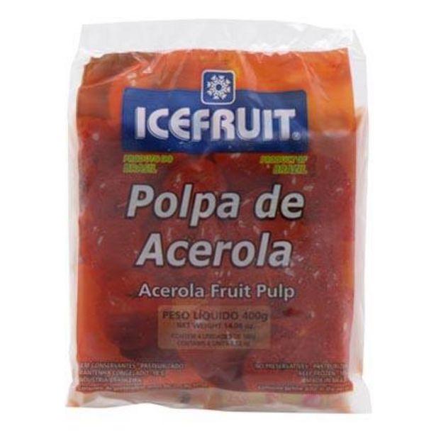 Oferta de Polpa Congelada Icefruit Acerola Pacote com 4 Unidades 100g cada por R$6,99