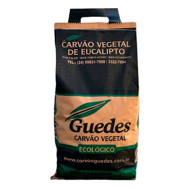 Oferta de Carvão Vegetal Ecológico Guedes 5kg por R$23,59