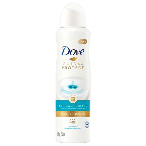 Oferta de Desodorante Antitranspirante Aerosol Dove Cuida & Protege 150ml por R$17,59