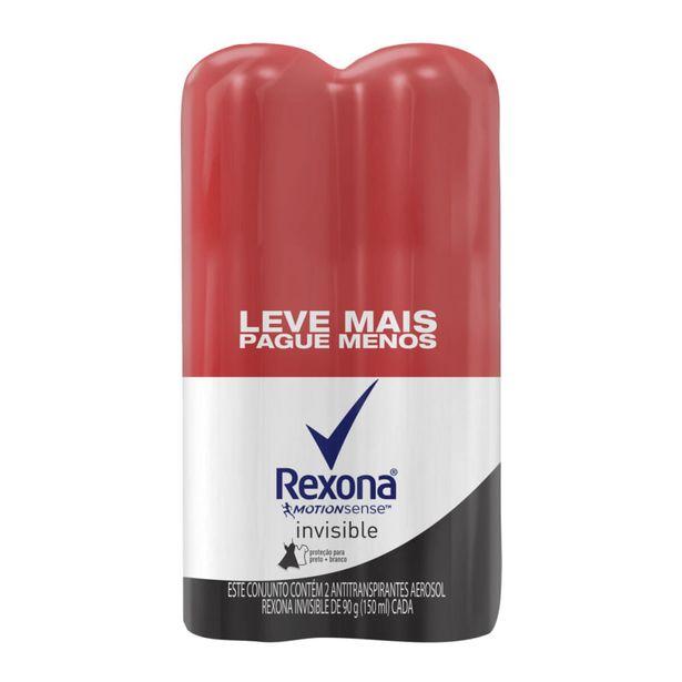 Oferta de Desodorante Aerossol Rexona Invisible Com 2 Unidades 150ml Cada por R$22,99