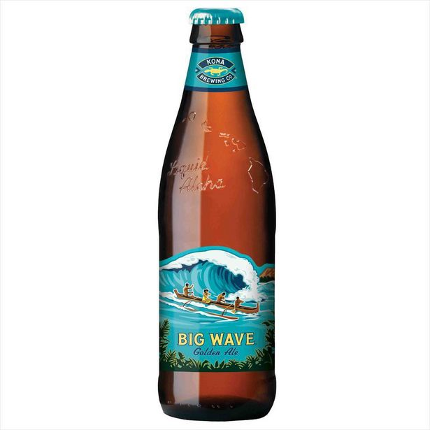 Oferta de Cerveja Americana Kona Big Wave Golden Ale Long Neck 355ml por R$8,99