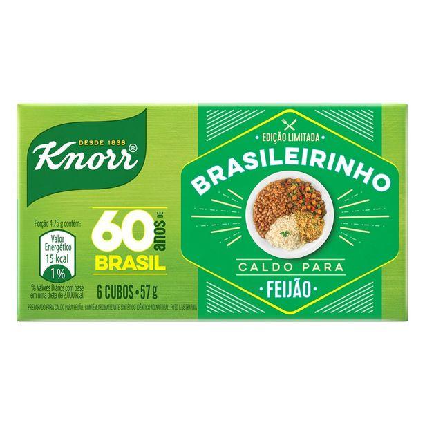 Oferta de Caldo de Feijão Knorr Brasileirinho Caixa com 6 Unidades 57g por R$1,75