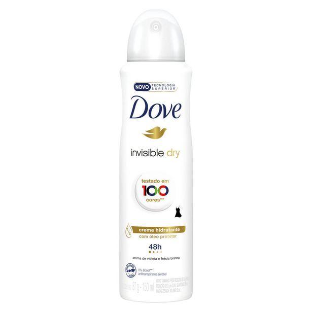 Oferta de Desodorante Antitranspirante Aerosol Dove Invisible Dry 150ml por R$15,9