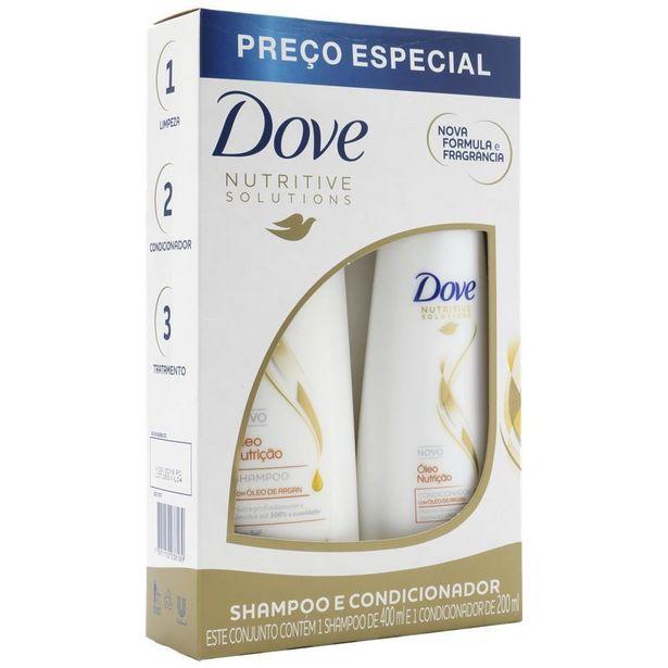 Oferta de Kit Shampoo + Condicionador Dove Óleo Nutrição por R$17,39
