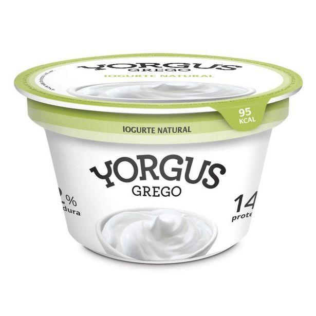 Oferta de Iogurte Parcialmente Desnatado Yorgus Grego Natural 130g por R$5,49
