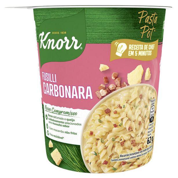 Oferta de Macarrão Instantâneo Knorr Fusilli Carbonara Pasta Pot 62g por R$13,45