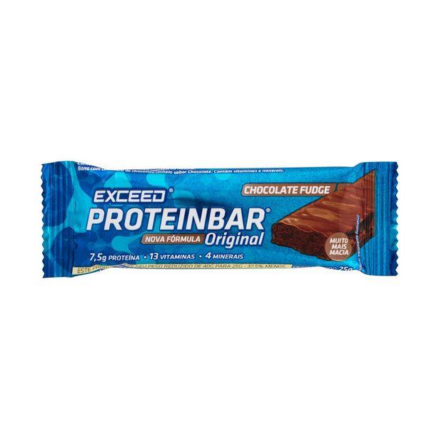 Oferta de Suplemento Exceed Proteinbar Original Chocolate Fudge 25g por R$5,29