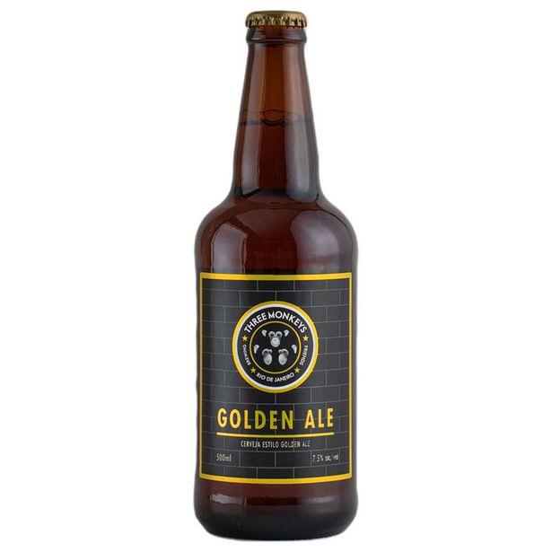 Oferta de Cerveja Brasileira Three Monkeys Golden Ale Garrafa 500ml por R$13,98