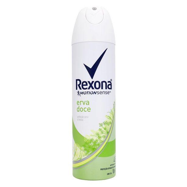 Oferta de Desodorante Antitranspirante Aerosol Feminino Rexona Erva Doce 72 horas 150ml por R$15,49