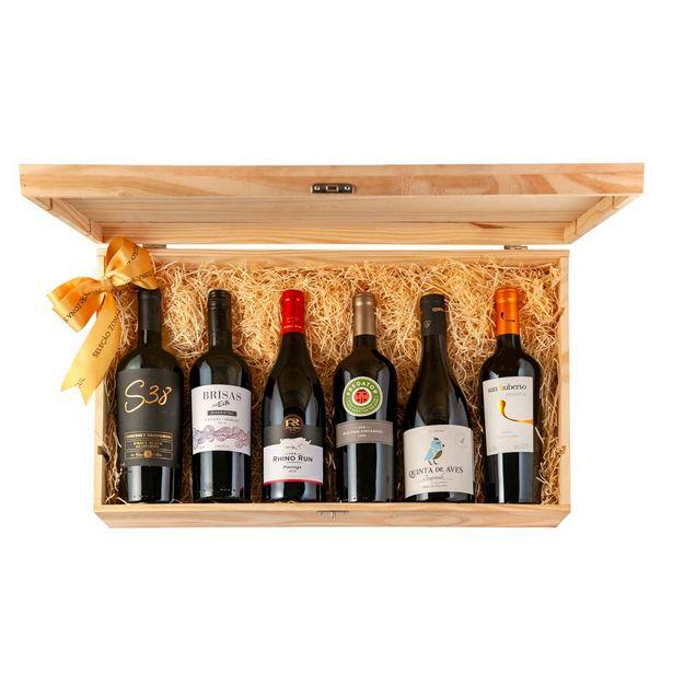 Oferta de Kit Vinhos Sabores do Mundo por Expert Dionísio Chaves por R$722
