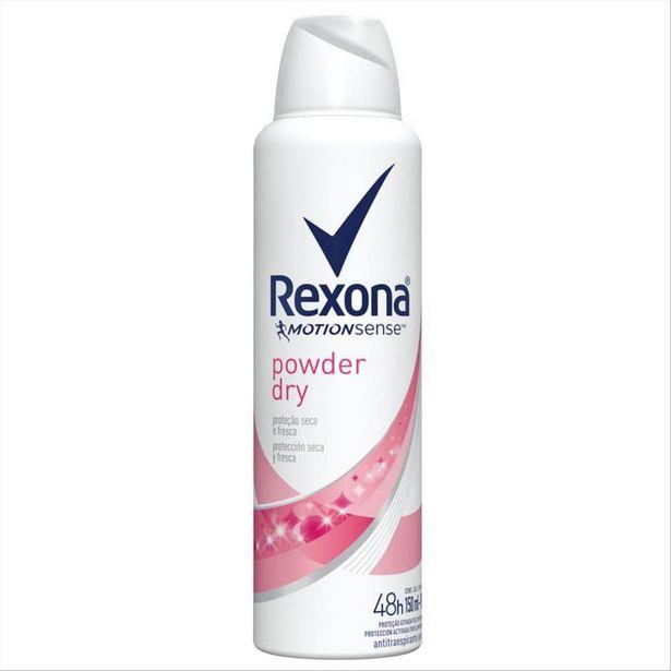 Oferta de Desodorante Antitranspirante Aerosol Feminino Rexona Powder Dry 72 horas 150ml por R$15,49