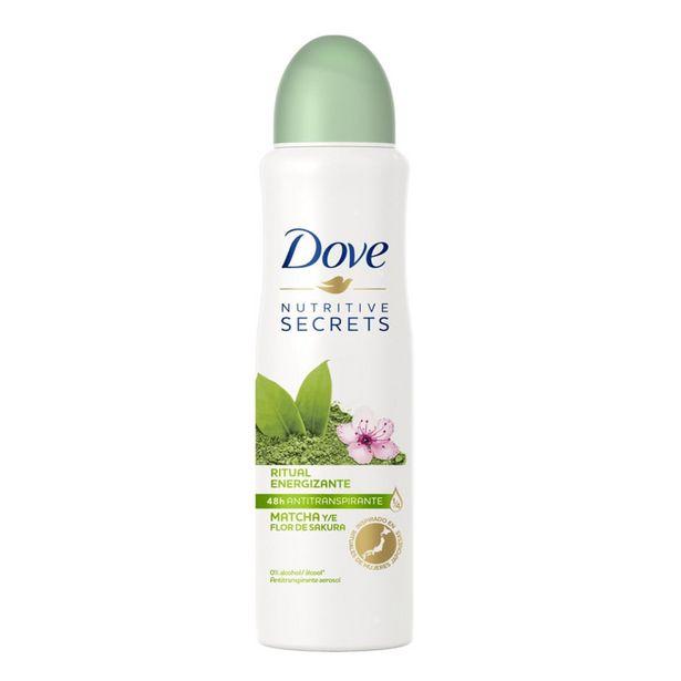 Oferta de Desodorante Antitranspirante Aerosol Dove Nutritive Secrets Matcha e Flor de Sakura 150ml por R$15,9