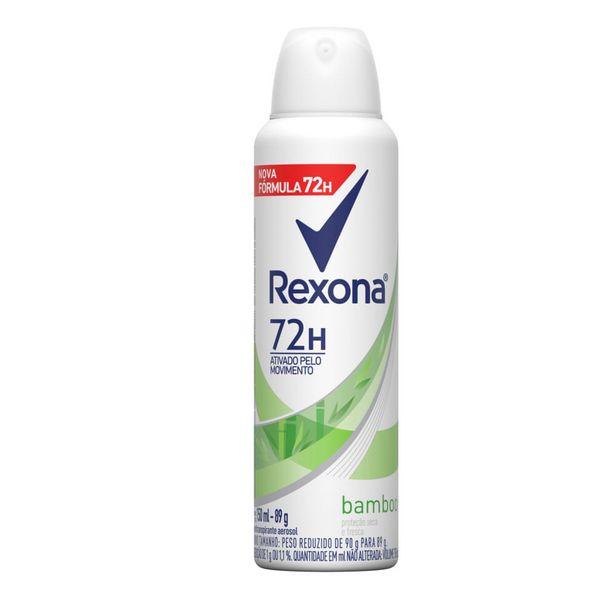 Oferta de Desodorante Antitranspirante Aerosol Feminino Rexona Bamboo 72 horas 150ml por R$15,49