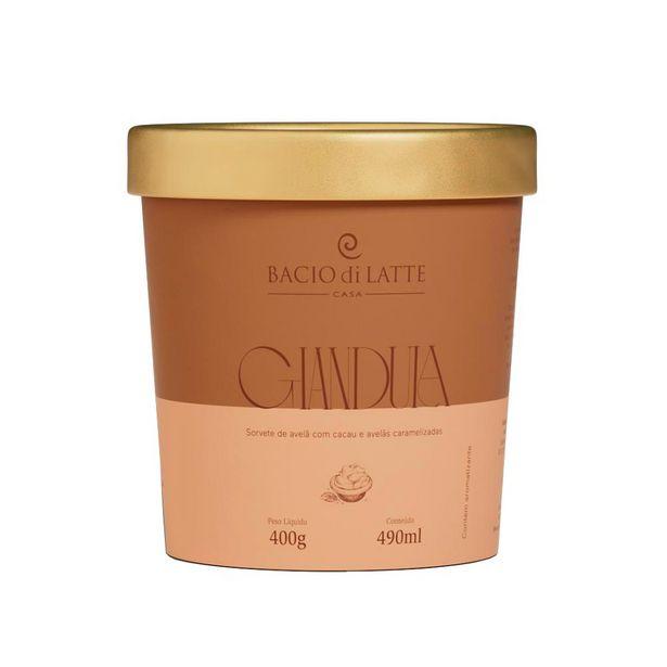 Oferta de Sorvete Bacio Di Latte Gianduia 490ml por R$39,9