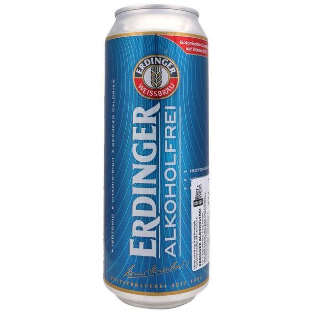 Oferta de Cerveja Alemã Erdinger Sem Álcool Alkoholfrei Lata 500ml por R$12,53