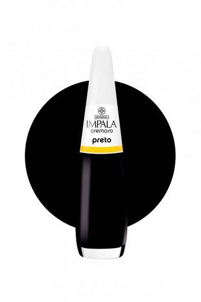 Oferta de Esmalte Preto Impala - por R$6,99