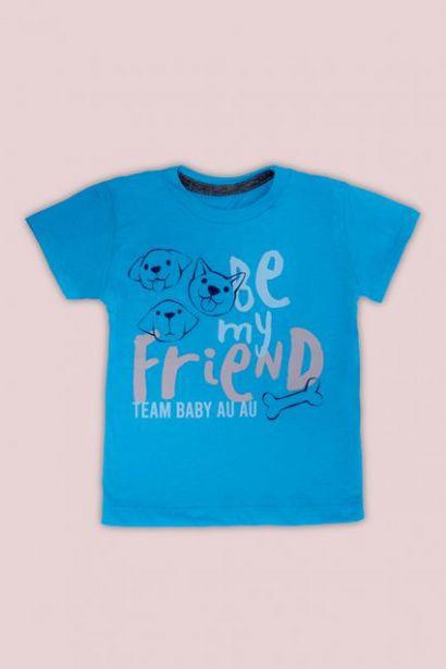 Oferta de Conjunto Bebê Menino Estampado Dogs Azul por R$34,99
